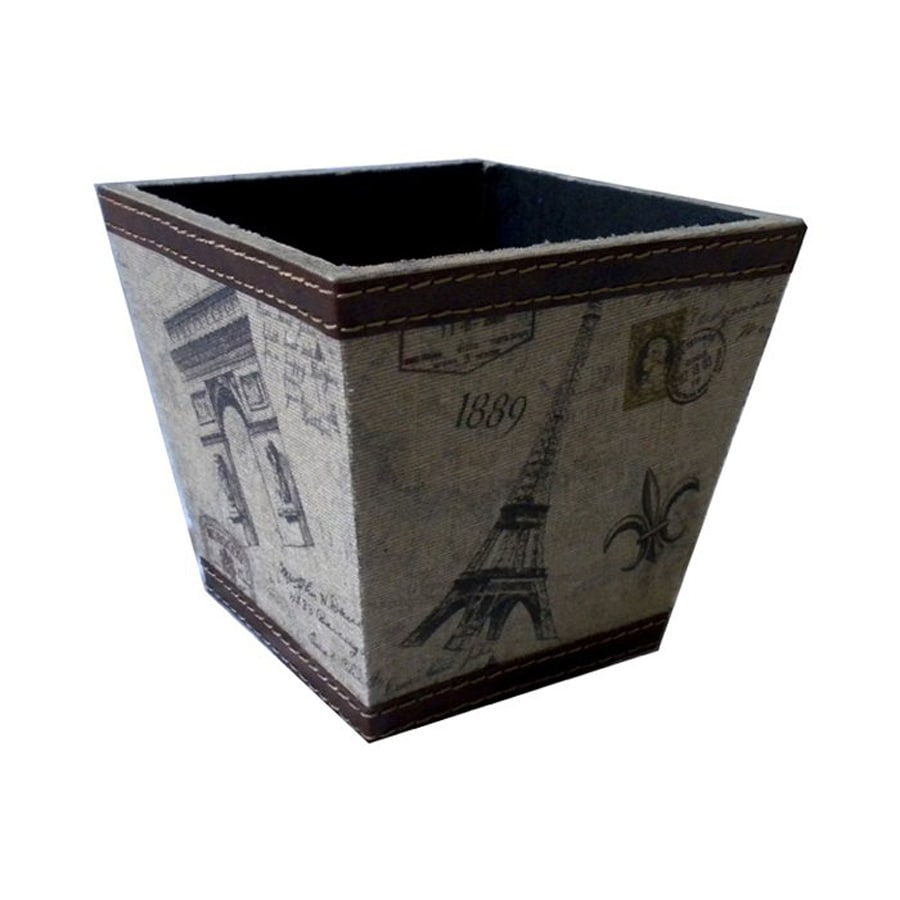Cheung's 6-in x 5.5-in Tan/Multicolor Wood Paris Planter