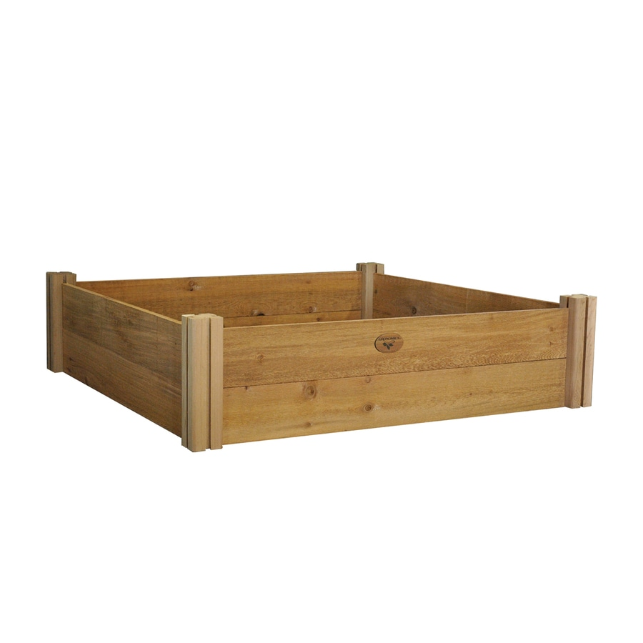 Gronomics 48-in W x 48-in L x 13-in H Rustic Cedar Raised Garden Bed