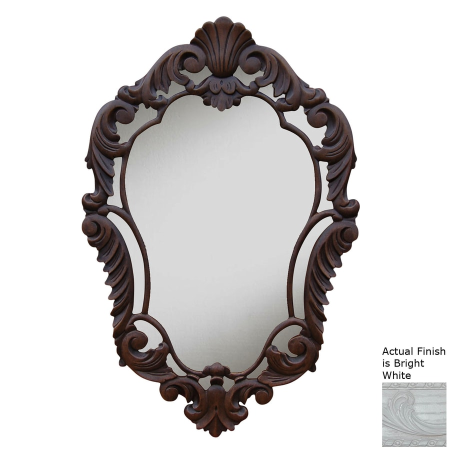 Hickory Manor House Curved Bright White Polished Diamond Wall Mirror
