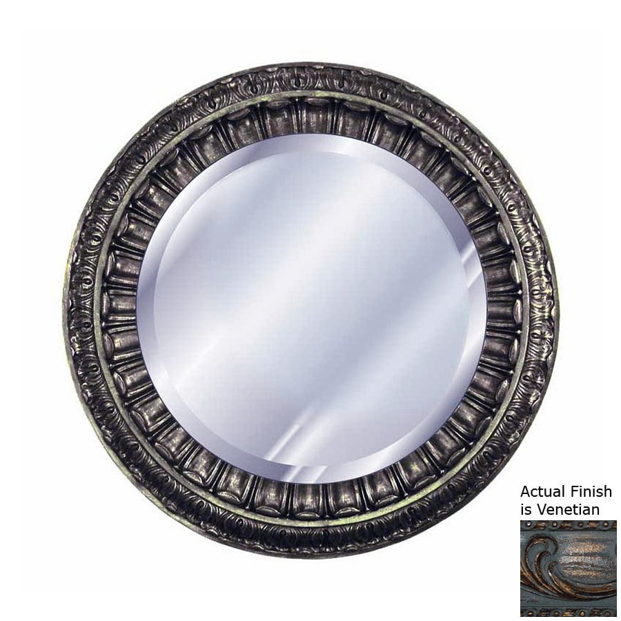 Hickory Manor House Ptolemy Venetian Beveled Round Wall Mirror