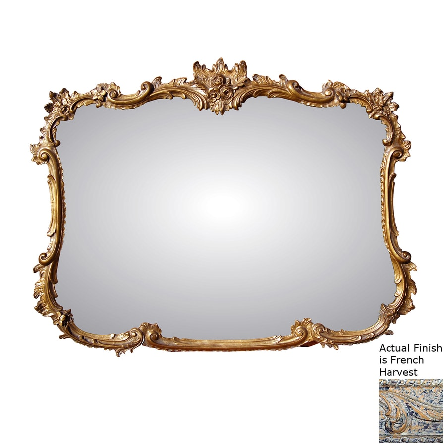 Hickory Manor House Buffet 44-in x 34-in French Harvest Polished Rectangle Framed Wall Mirror