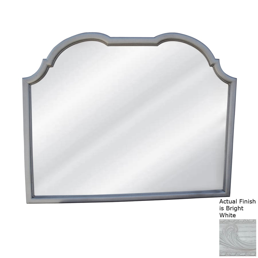Hickory Manor House Double Top Buffet Bright White Polished Arch Wall Mirror