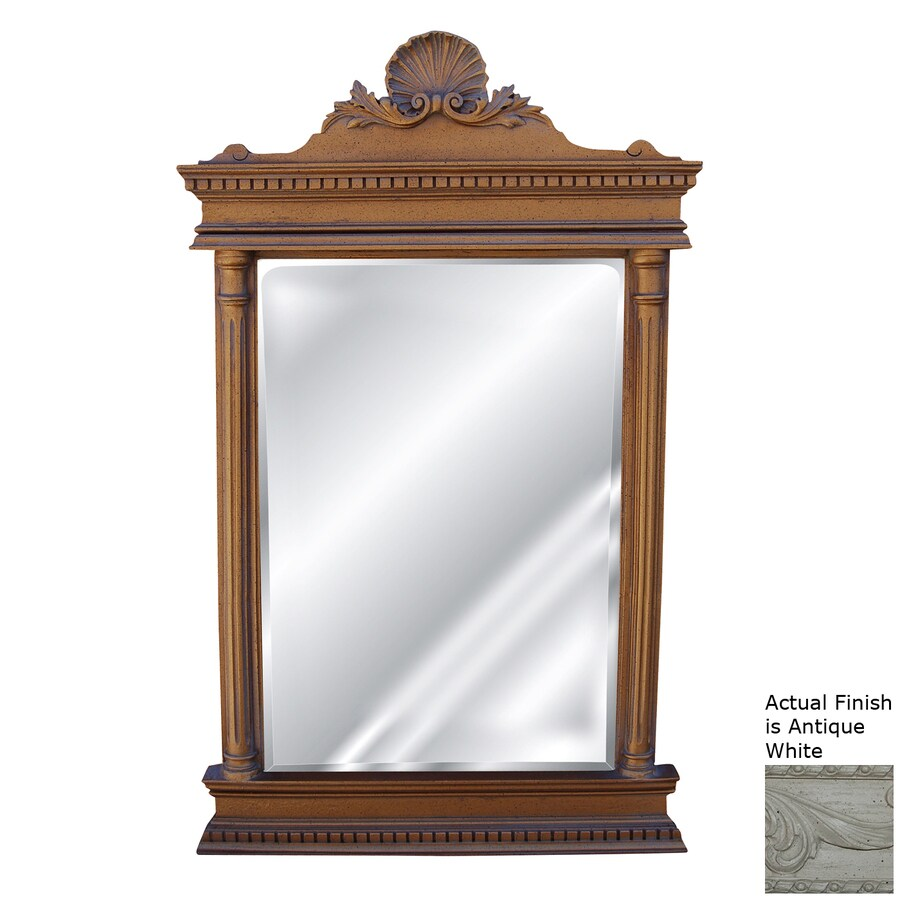 Hickory Manor House Cicero Antique White Polished Wall Mirror