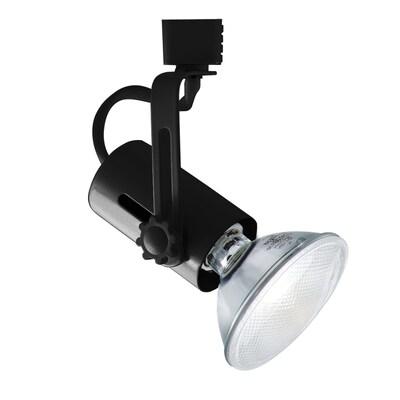 Jesco 1 Light Black Gimbal Linear Track Lighting Head At