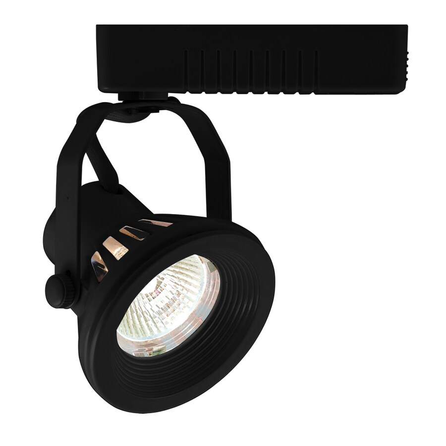 JESCO 1-Light Dimmable Black Gimbal Linear Track Lighting Head