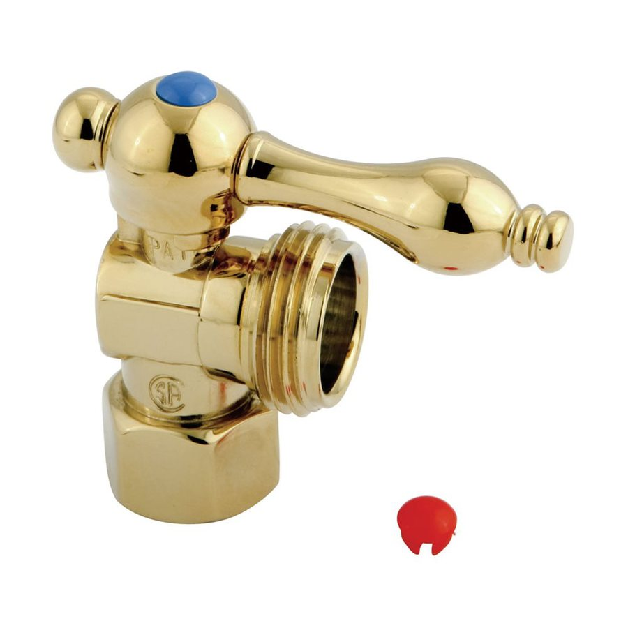 Elements of Design Polished Brass Quarter Turn Angle Valve