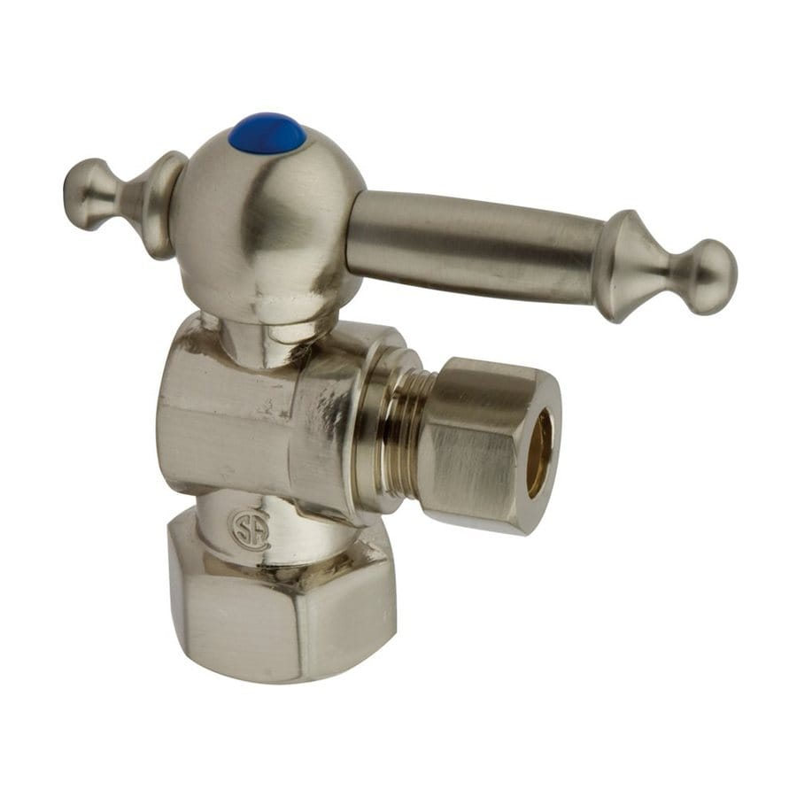 Elements of Design Satin Nickel Quarter Turn Angle Valve