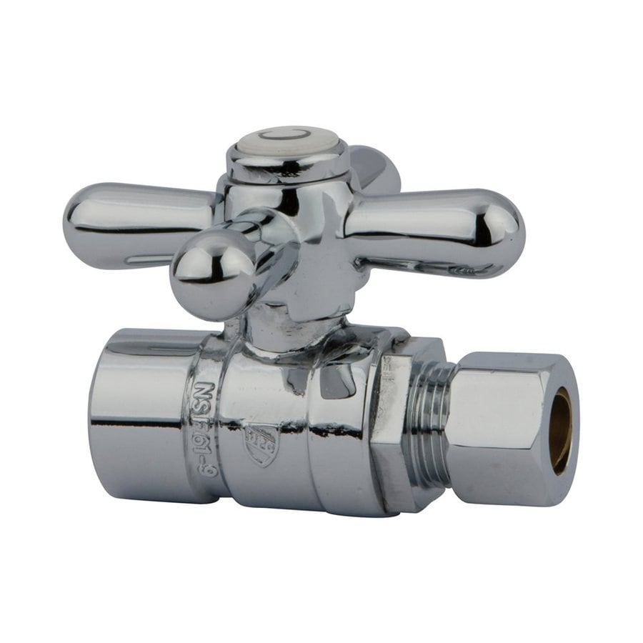 Elements of Design Brass Sweat Straight Valve