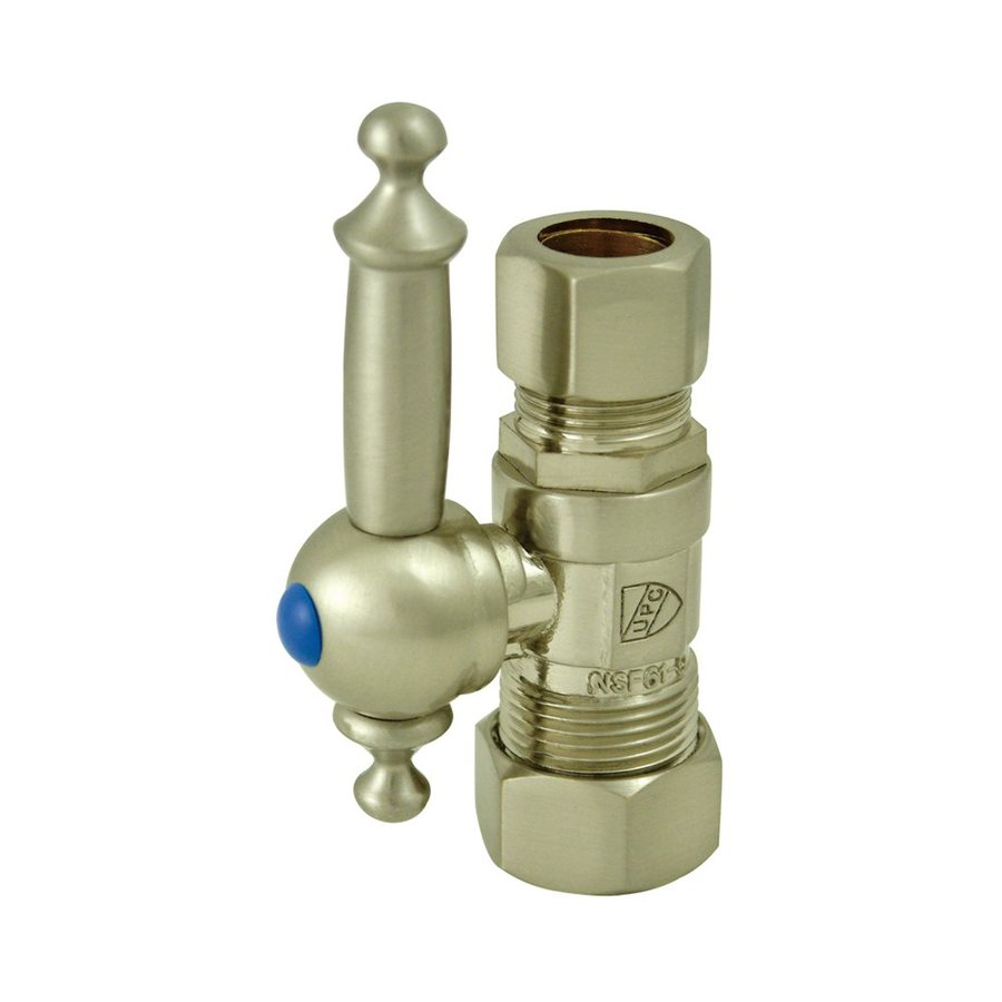 Elements of Design Brass Compression Straight Valve