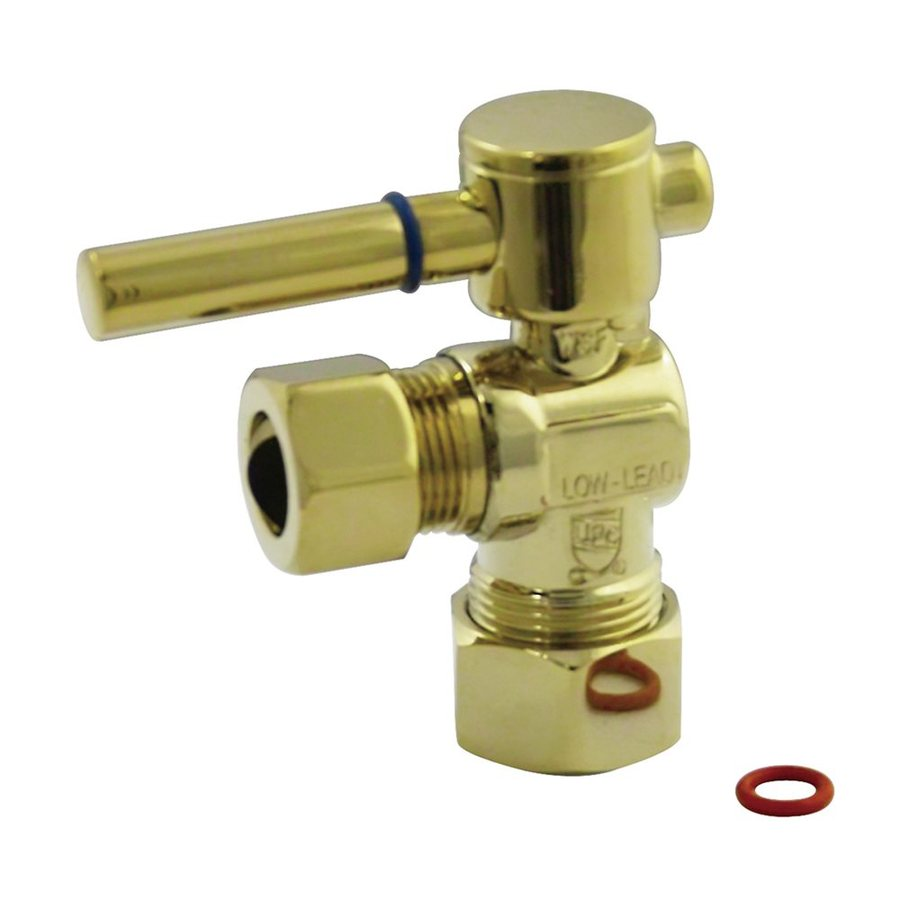 Elements of Design Polished Brass Quarter Turn Angle Valve