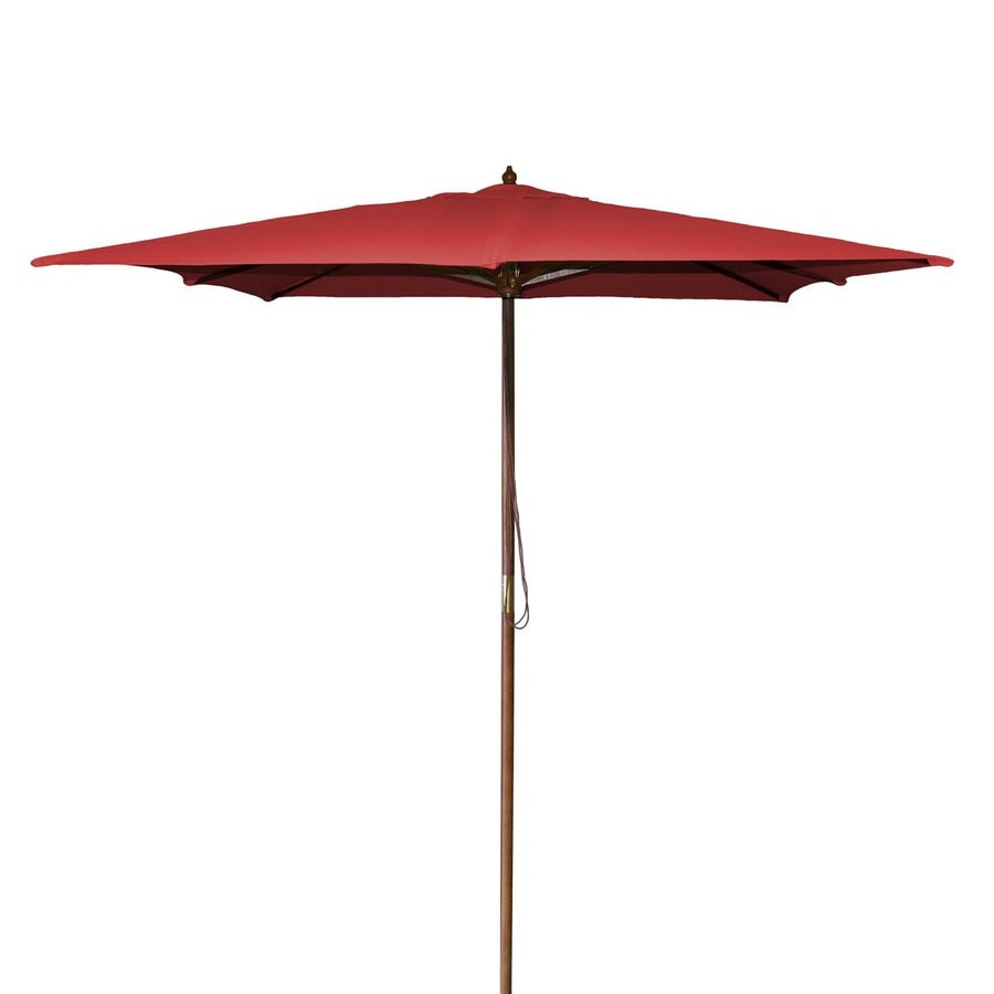 Jordan Manufacturing Red Market Patio Umbrella (Common: 8.5-ft W x 8.5-ft L; Actual: 8.5-ft W x 8.5-ft L)