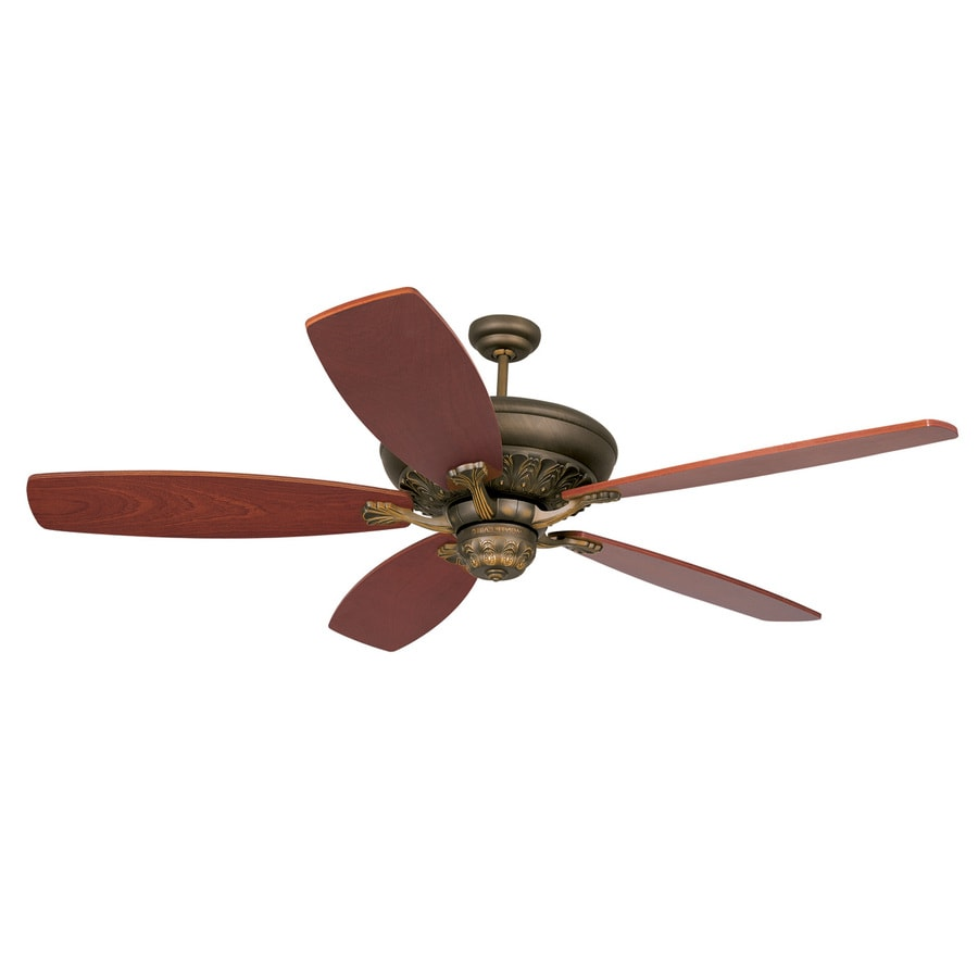 Monte Carlo Fan Company St Ives 15-in Roman Bronze Downrod Mount Indoor Ceiling Fan (0-Blade)