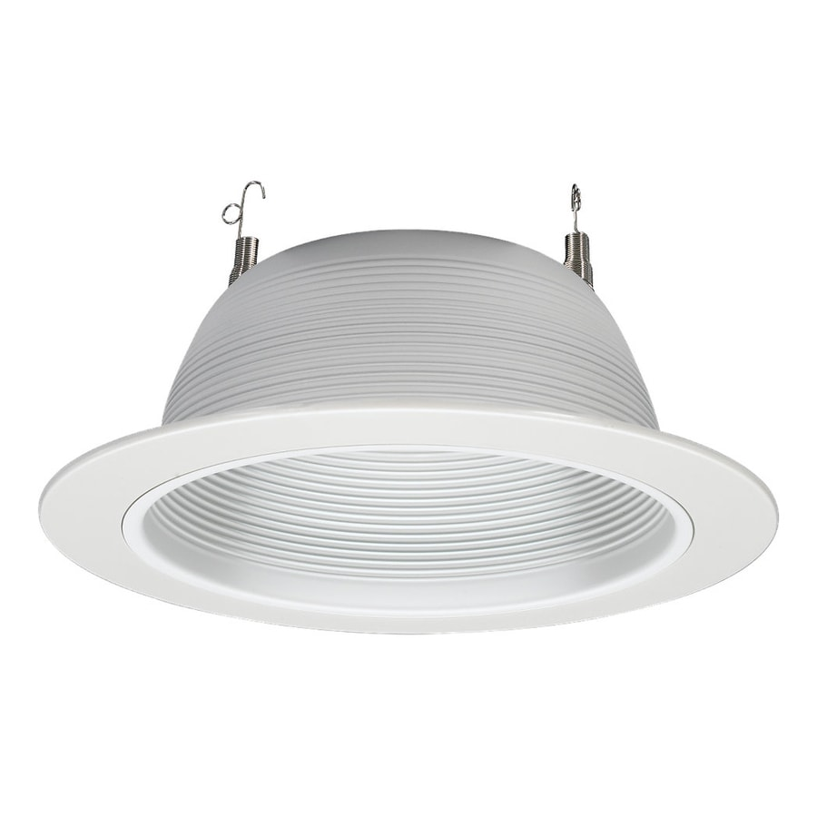 Sea Gull Lighting White Baffle Recessed Light Trim (Fits Housing Diameter 6-in  sc 1 st  Loweu0027s & Shop Sea Gull Lighting White Baffle Recessed Light Trim (Fits ...
