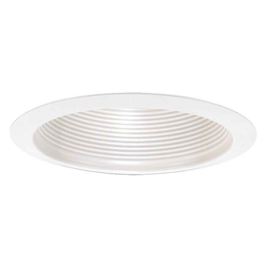 Sea Gull Lighting White Baffle Recessed Light Trim (Fits Housing Diameter: 6-in)