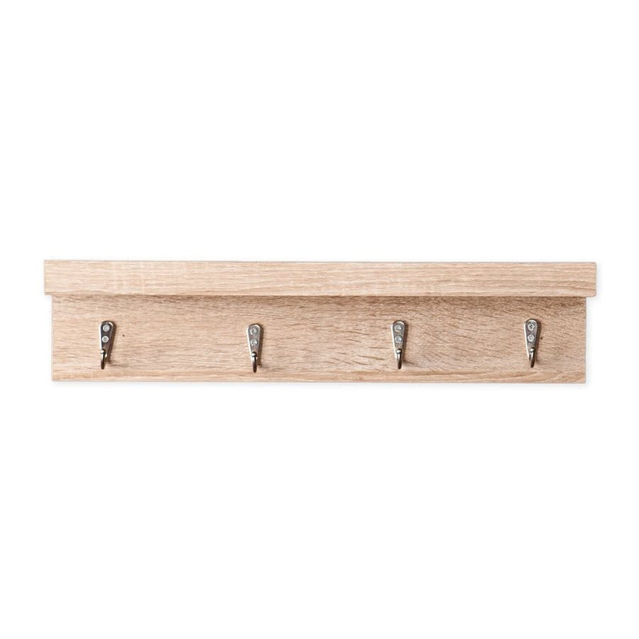 Boston Loft Furnishings Nova Light Oak 4-Hook Mounted Coat Rack
