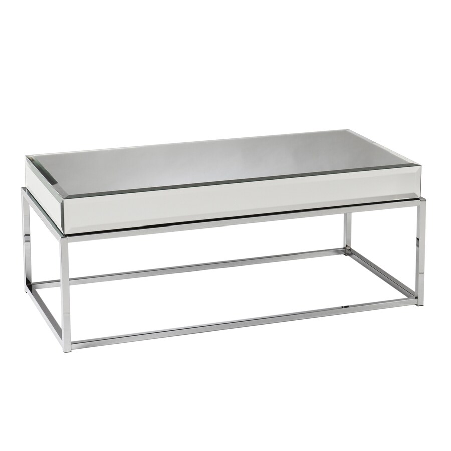 Boston Loft Furnishings Corina Mirror Chrome (Metal) Rectangular Coffee Table