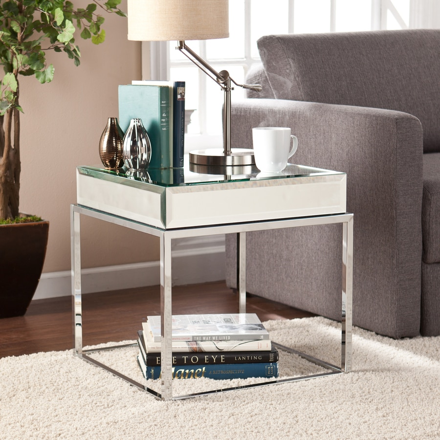 Boston Loft Furnishings Corina Chrome Square End Table