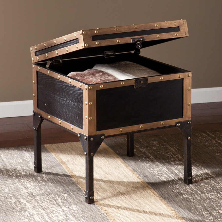 Boston Loft Furnishings Davon Antique Black Ash End Table