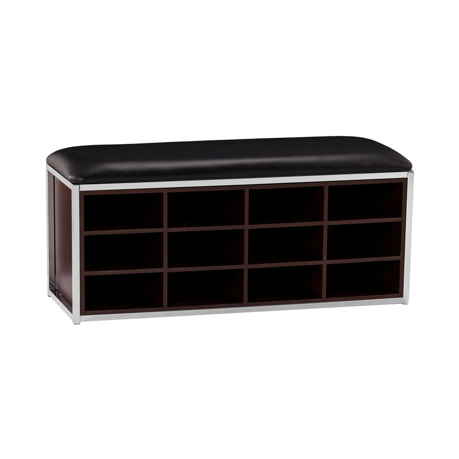 Boston Loft Furnishings Deborah Espresso/Chrome Indoor Storage Bench