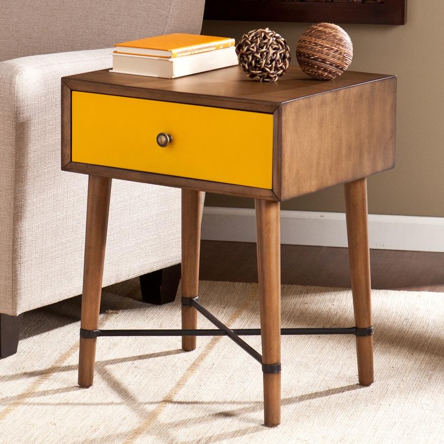 Boston Loft Furnishings Urban Dusty Oak/Yellow Birch Rectangular End Table