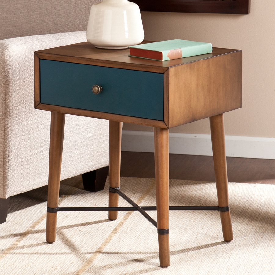 Boston Loft Furnishings Urban Dusty Oak/Blue Birch Rectangular End Table
