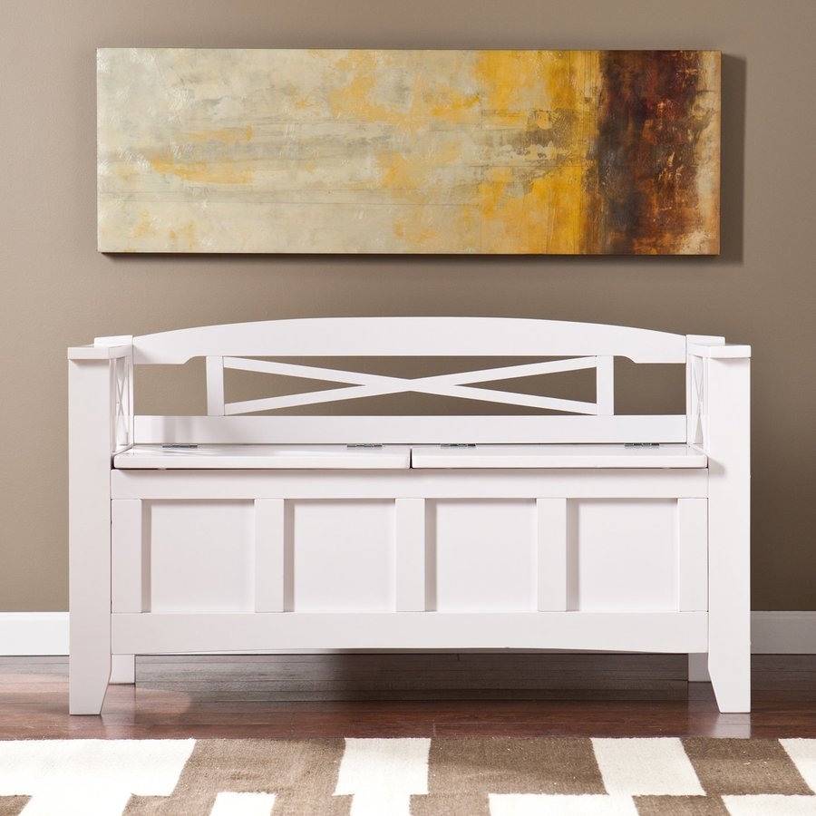 Shop Boston Loft Furnishings Sweeney White Storage Bench At