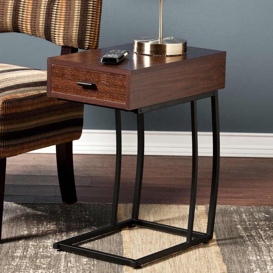 Boston Loft Furnishings Dina Dark Walnut Rectangular End Table