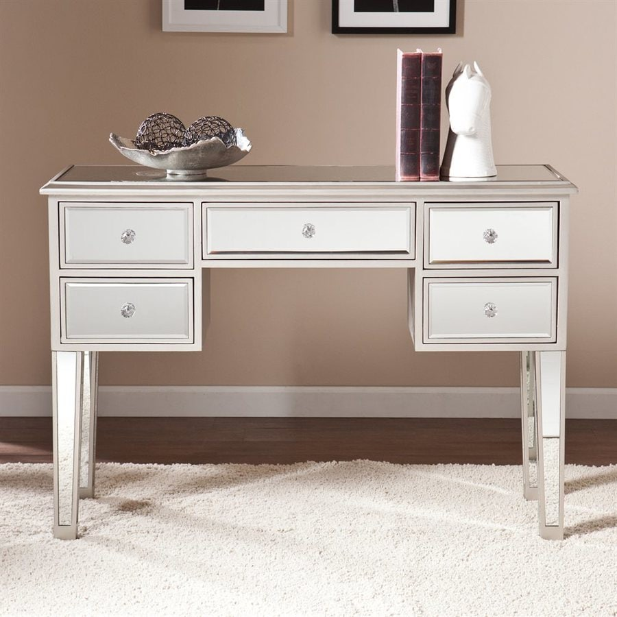Boston Loft Furnishings Impression Silver Rectangular Console Table