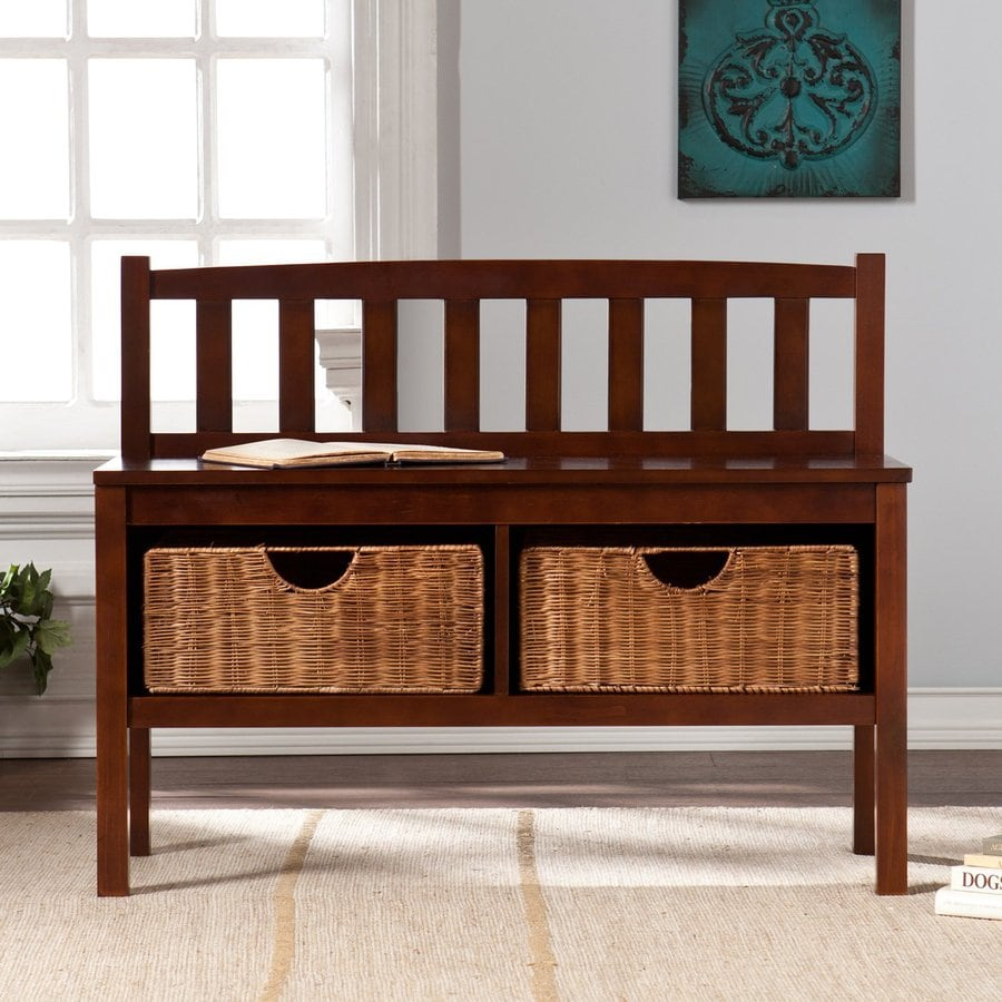 Boston Loft Furnishings Abbedale Espresso Indoor Storage Bench