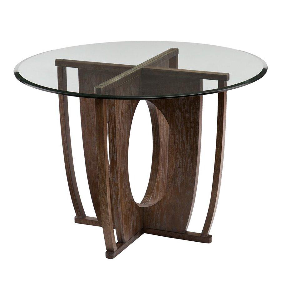 Boston Loft Furnishings Bauer Burnt Oak Round Dining Table
