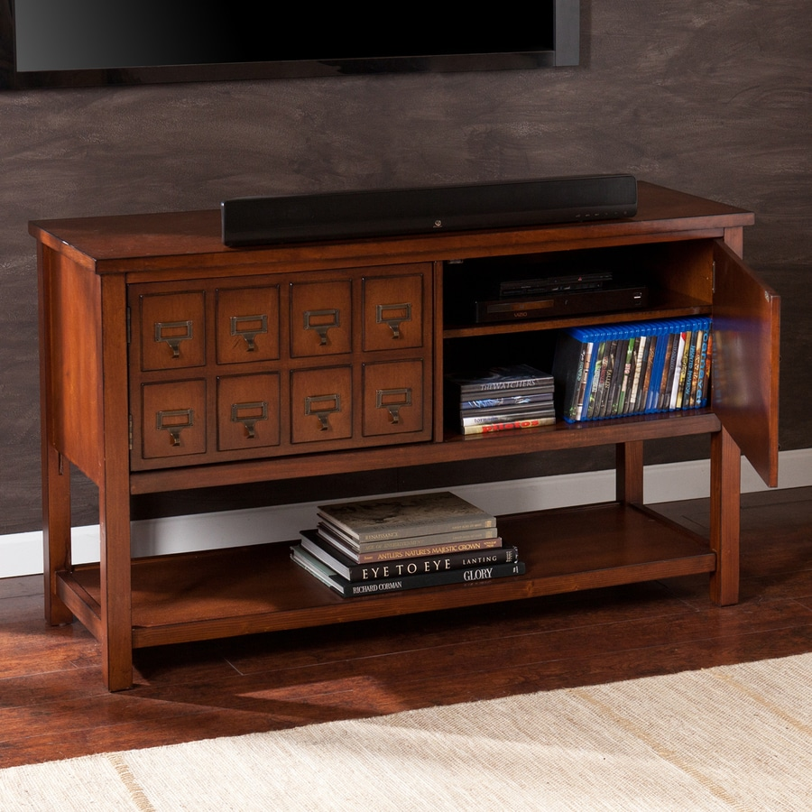 Boston Loft Furnishings Arcadia Brown Mahogany Rectangular Television Cabinet