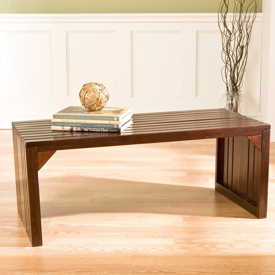 Boston Loft Furnishings Vance Transitional Espresso Accent Bench