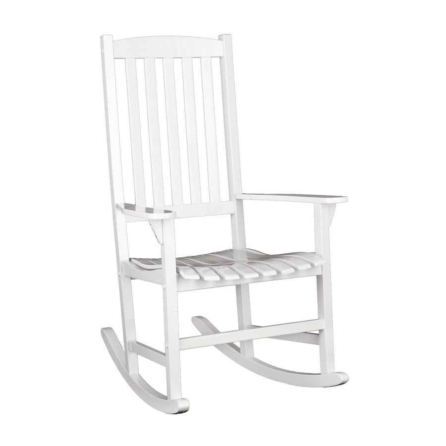 Boston Loft Furnishings Carolina White Eucalyptus Composite Patio Rocking Chair
