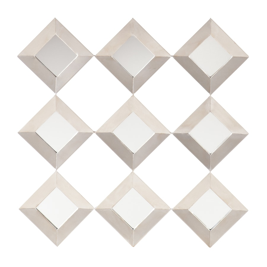 Boston Loft Furnishings Sonali Silver Beveled Diamond Wall Mirror