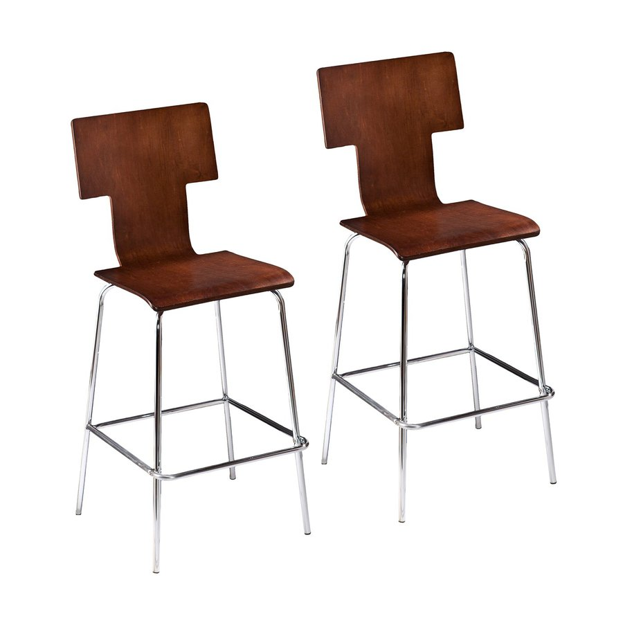 Holly & Martin Set of 2 Tebrack Espresso 29.25-in Bar Stools
