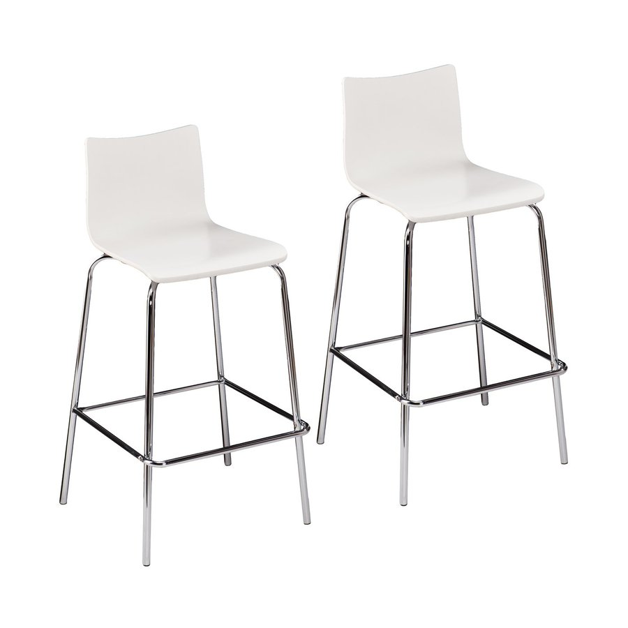 Holly & Martin Set of 2 Blence White 29.25-in Bar Stools