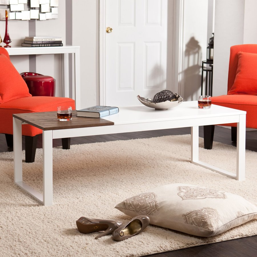 Holly & Martin Lydock White Rectangular Coffee Table