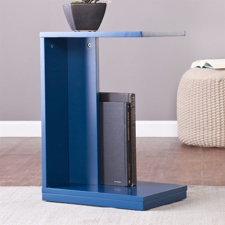Holly & Martin Bocks Navy Rectangular End Table