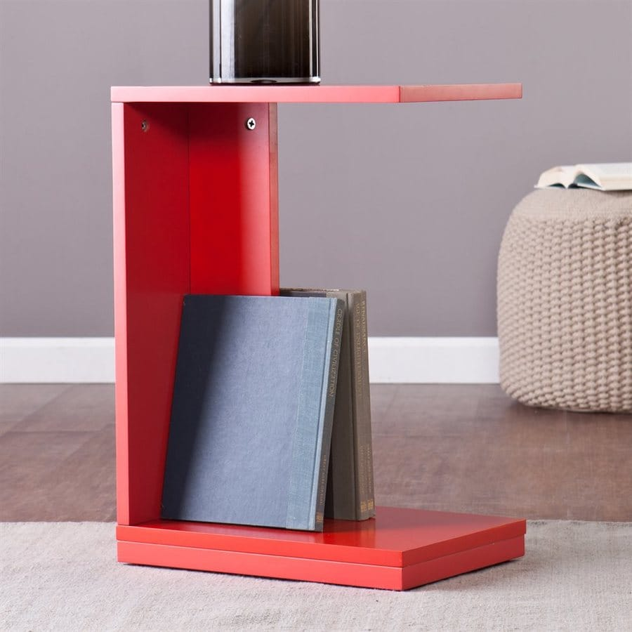 Holly & Martin Bocks Red-Orange End Table