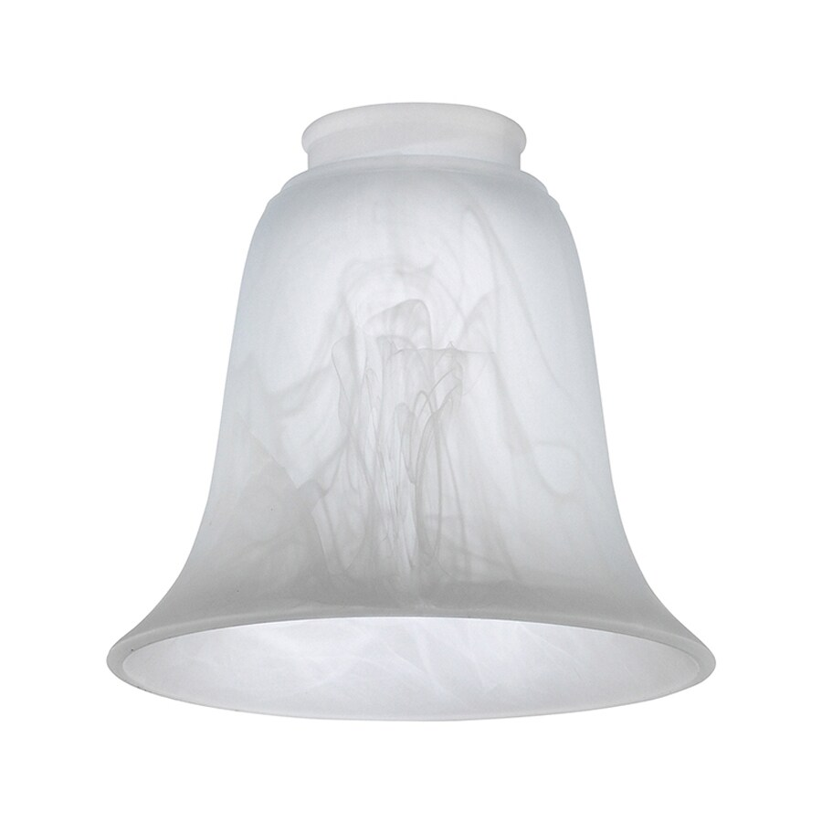 Sea Gull Lighting 5 25 In H W Etched White Alabaster Glass Bell