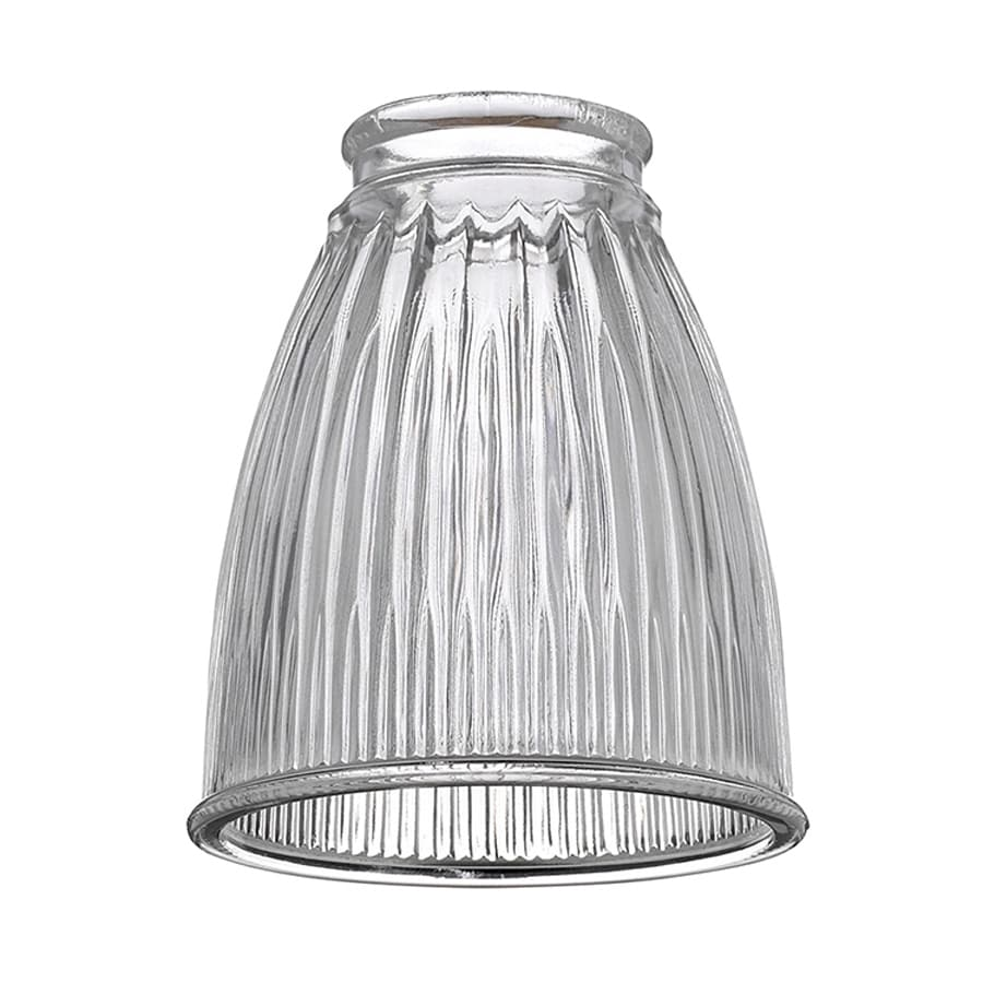 Sea Gull Lighting 5-in H 4.25-in W Clear Ribbed Glass Bell Ceiling Fan Light Shade