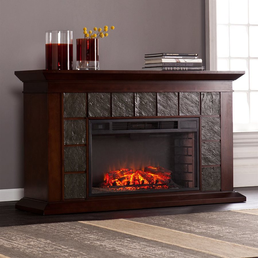 Shop boston loft furnishings 60 in w 5000 btu dark walnut Loft fireplace