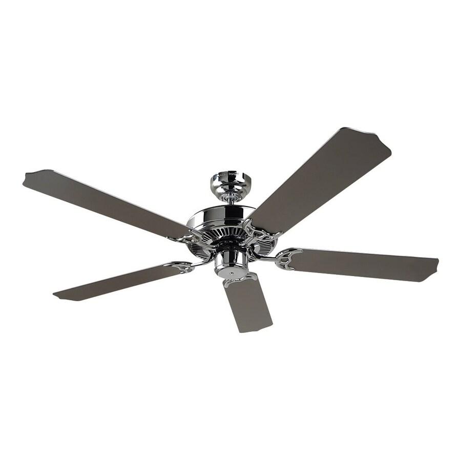 Sea Gull Lighting Quality Max 52-in Chrome Downrod or Close Mount Indoor Ceiling Fan (5-Blade) ENERGY STAR