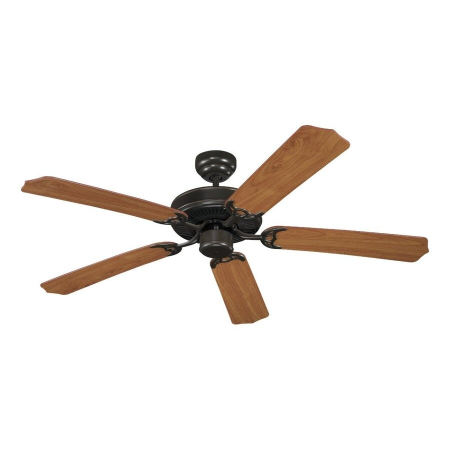 Sea Gull Lighting Quality Max 52-in Heirloom bronze Indoor Downrod Or Close Mount Ceiling Fan ENERGY STAR