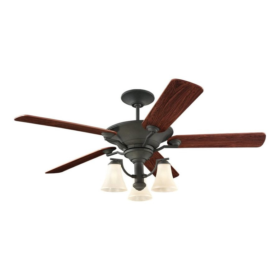 Sea Gull Lighting Somerton 56-in Blacksmith Indoor Downrod Mount Ceiling Fan with Light Kit