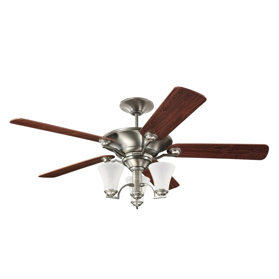 Sea Gull Lighting Somerton 56-in Antique Brushed Nickel Downrod Mount Indoor Residential Ceiling Fan with Light Kit (5-Blade)