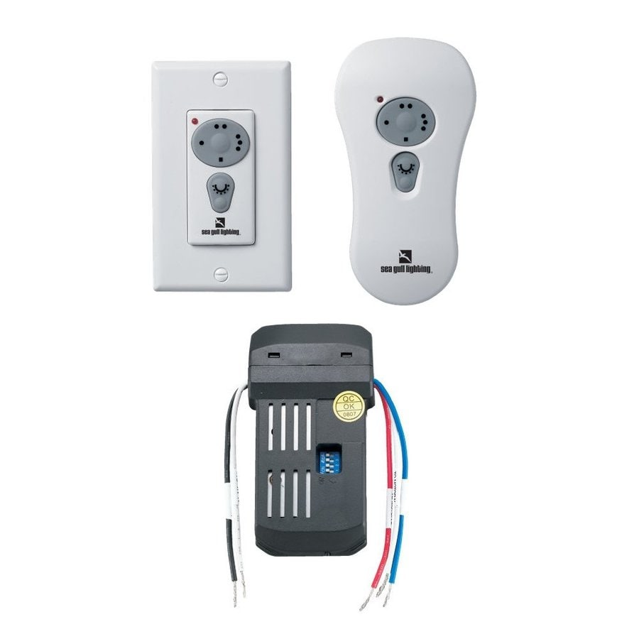 Wall Mounted Fans With Remote Control : Shop sea gull lighting white handheld wall mount ceiling