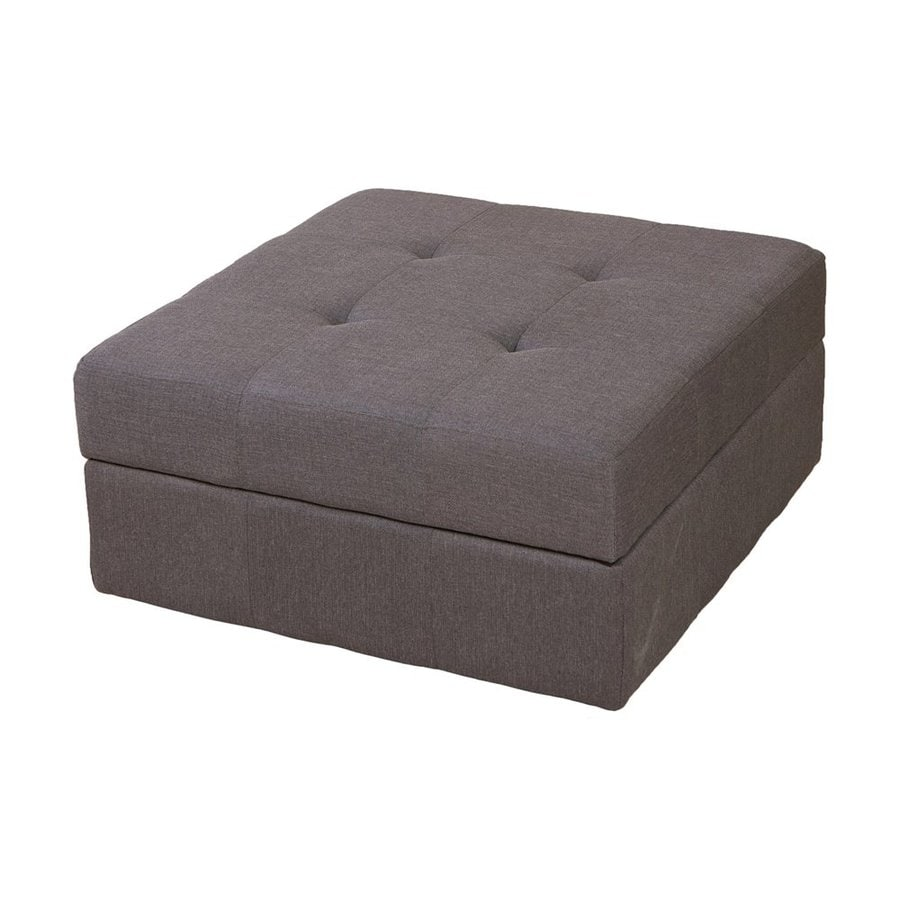 Best Selling Home Decor Chatsworth Brown/Grey Square Storage Ottoman