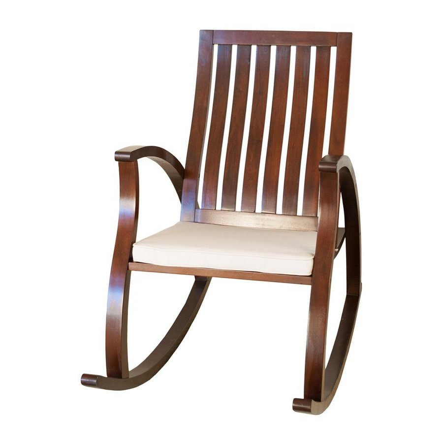 Best Selling Home Decor Abraham Vintage Brown Mahogany Rocking Chair