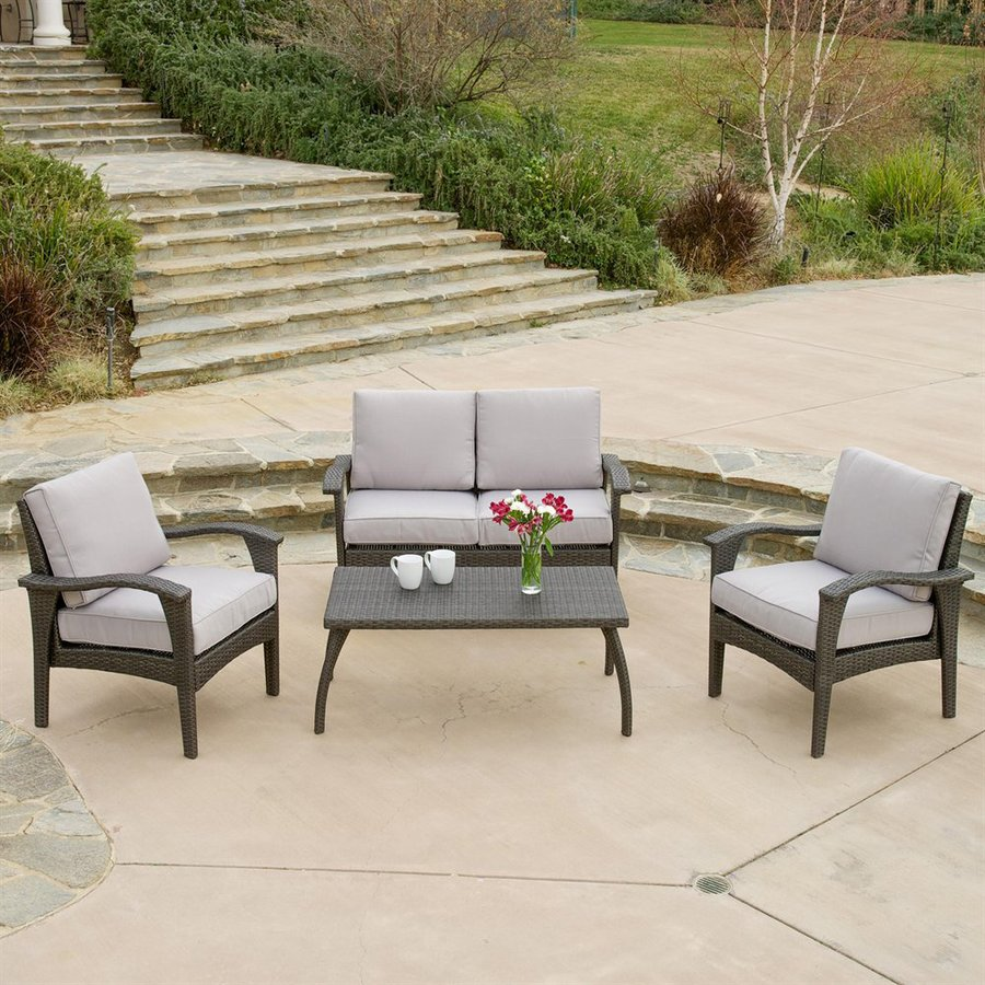 Shop best selling home decor honolulu 4 piece wicker patio for Selling home interior products
